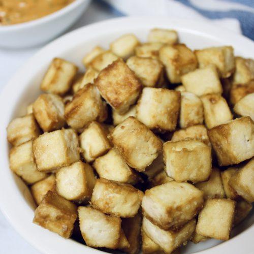 easy garlic baked tofu