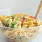 gluten free hummus pasta salad