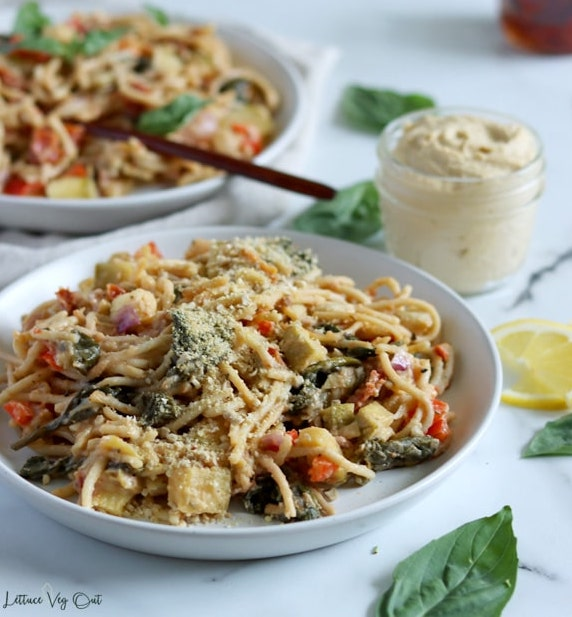 vegan hummus pasta